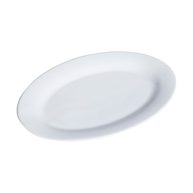 Honey Can Do Porcelain Oval Platter, 11 Inch by 15.5 Inch, white ( 8142 )