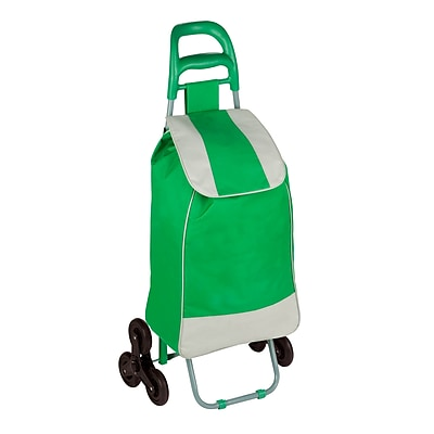 Honey Can Do R92022 - rolling fabric bag cart with tri wheels, green ( CRT-03935 )
