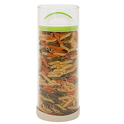 Honey Can Do Storage jar, green / white ( KCH-06417 )