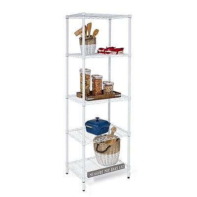 "Honey Can Do 5-tier shelving unit, 24""W x 18""D x 72""H, White ( SHF-01055 )"