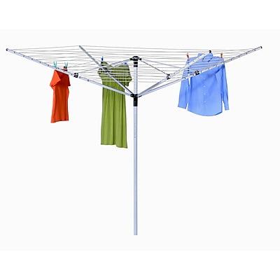 Honey Can Do Jack Post 4 Load Aluminum Folding Clothesline FD-40, white ( DRY-05262 )