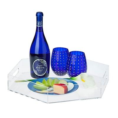 Honey Can Do iced. acrylic tray - hexagon, Claer ( STO-06501 )