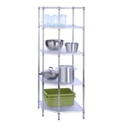 Honey Can Do 5 Tier Chrome Corner Shelf , chrome ( SHF-04886 )