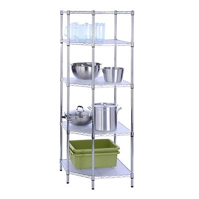 Honey Can Do 5 Tier Chrome Corner Shelf , chrome ( SHF-04886 )
