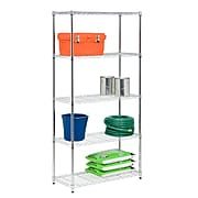 Honey Can Do 5-tier shelving 18x36x72 in; 350lb capacity, chrome plated ( SHF-06832 )