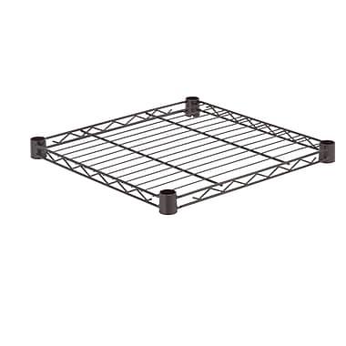 Honey Can Do Steel Shelf-350lb black 18x18, black ( SHF350B1818 )