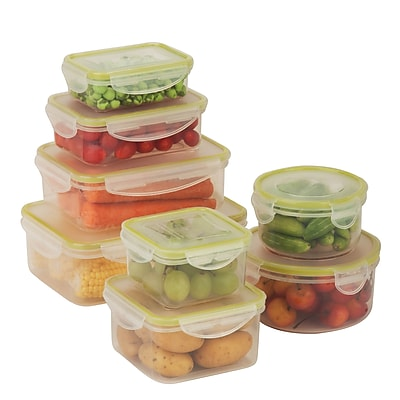 Honey Can Do snap lock 16 piece set, clear ( KCH-03828 )