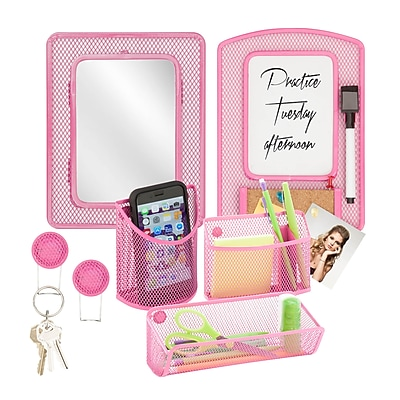 Honey Can Do Back to School kit 8, Hot Pink