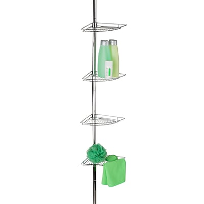 Honey Can Do Bathtub & Shower Caddy , chrome-plated steel ( BTH-03079 )