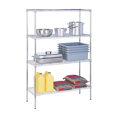 Honey Can Do 4-Tier 350lbs, 18x48x72, chrome ( SHF-05226 )