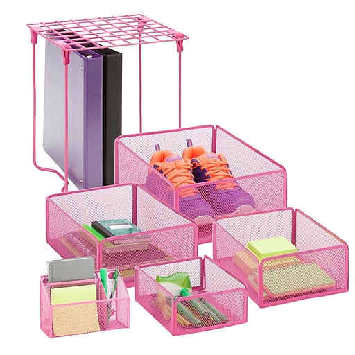 Honey Can Do Back to School kit 7, Hot Pink