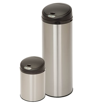 Honey Can Do Round SENSOR TRASHCAN combo, stainless ( TRS-06657 )