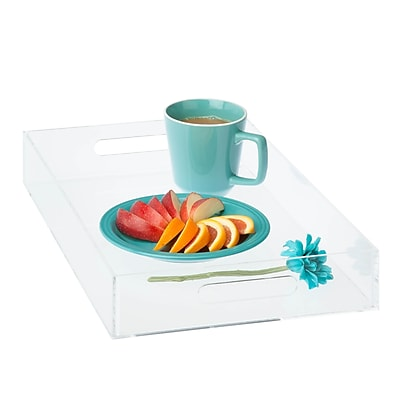 Honey Can Do iced. acrylic tray - small, Clear ( STO-06500 )