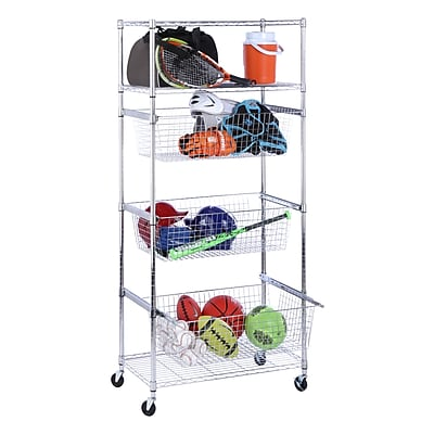 Honey Can Do Chrome-finished Sports Shelving, chrome ( SHF-04885 )