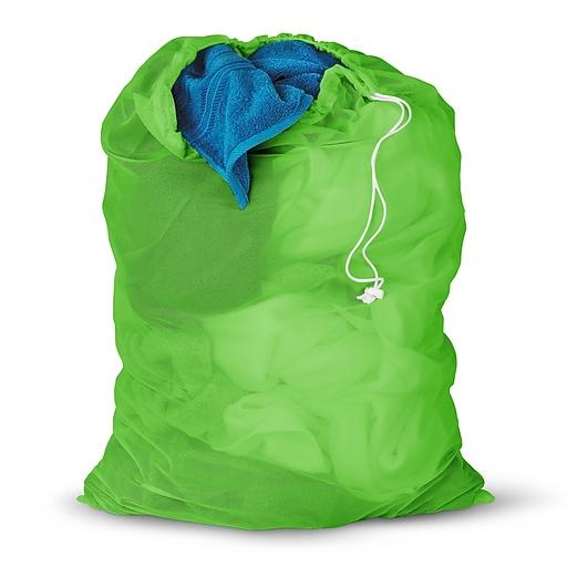 Honey Can Do 2 Pieces Mesh Laundry Bag, green ( LBGZ01163 )