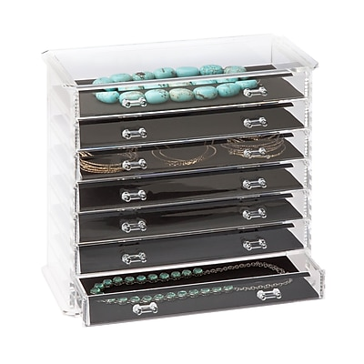 Honey Can Do Emily Jewelry Chest, Clear ( STO-06382 )
