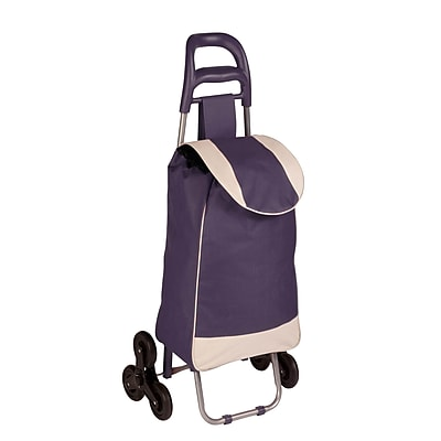 Honey Can Do R92022 - rolling fabric bag cart with tri wheels, plum ( CRT-03934 )
