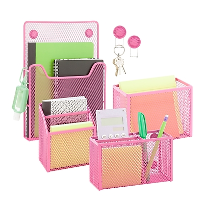 Honey Can Do Back to School kit 4, Hot Pink