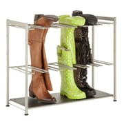 Honey Can Do 6 pair boot rack, silver/brown ( SHO-02812 )