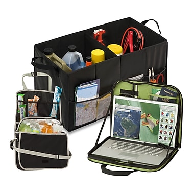 Honey Can Do 3-Piece Auto Accessory Kit , Black, Green ( AUTX06426 )