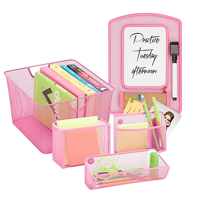 Honey Can Do Back to School kit 5, Hot Pink