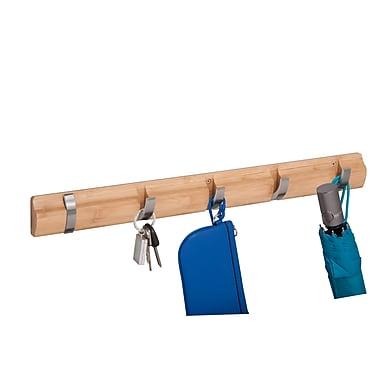 Honey Can Do Bamboo wall 5 hangers, natural ( HNG-04391 )