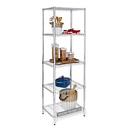 "Honey Can Do 5-tier shelving unit, 24""W x 18""D x 72""H, Chrome ( SHF-01054 )"