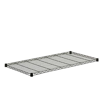 Honey Can Do Steel Shelf-350lb black 18x48, black ( SHF350B1848 )