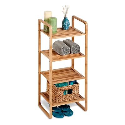Honey Can Do 4-tier bamboo rack, natural bamboo ( SHF-02099 )