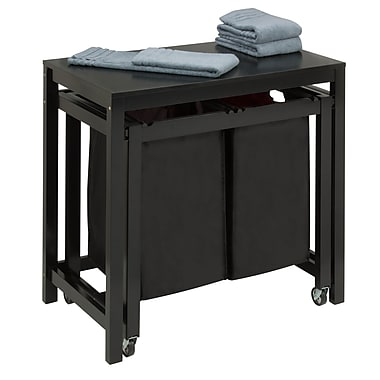 Honey Can Do double sorter folding table, black ( SRT-03571 )