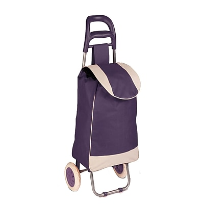 Honey Can Do R92022 - rolling knapsack bag cart, plum/white ( CRT-03930 )