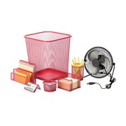 Honey Can Do Desk Essentials Set, Red ( OFCX06823 )