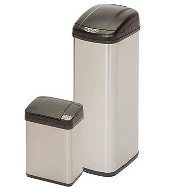 Honey Can Do Square SENSOR TRASHCAN combo, stainless ( TRS-06656 )