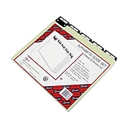 Smead Heavyweight File Guide, 1/5 Cut Tab, Letter Size, Gray/Green, 25/Set (50576)