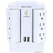 Cyberpower Professional Series 6 Outlet Home/Office, 1200 Joules (CSP600WSURC2)