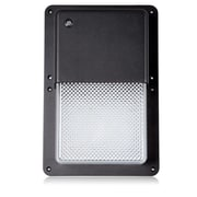 Maxxima Rectangular Outdoor LED Wall Pack Light with Dusk to Dawn Sensor 1050 Lumens