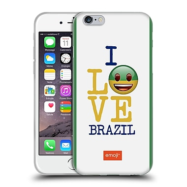 Official Emoji I Love My Country Brazil Soft Gel Case For Apple Iphone 6 / 6S