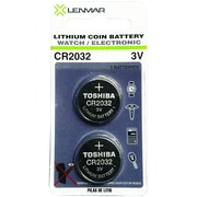 Lenmar Wccr2032x2 3-volt Cr2032 Coin Cell Battery, 2 Pk