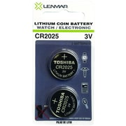 Lenmar Wccr2025x2 3-volt Cr2025 Coin Cell Battery, 2 Pk