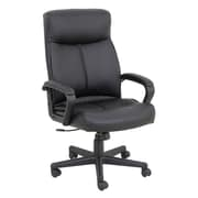 Barcalounger Office Furniture Bonded Leather Polyurethane and PVC Executive Chair Black Embossed Arms (9269H-MA)