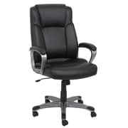 Barcalounger Office Furniture Bonded Leather and PVC Executive Chair Black Painted Polpropylene Upholstery Arms (80271H-MA)