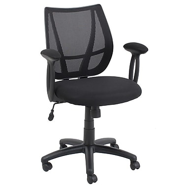 Barcalounger Office Furniture Mesh Drafting Chair Black Embossed Polpropylene Arms with Pads (50017M-1-MA)