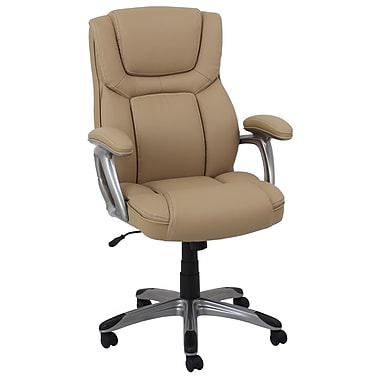 Baralounger Office Furniture Bonded Leather with PVC Executive Chair Camel Silver Painted Arms (80281H-3-MA)