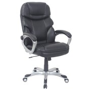 Barcalounger Office Bonded Leather   Tools Free Chair Black Painted Polpropylene Arms with Upholstery Arm Pad (3911H-3-MA