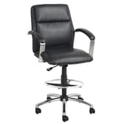 Global Office Furniture Bonded Leather  Executive Stool Black (0055-1-MA)