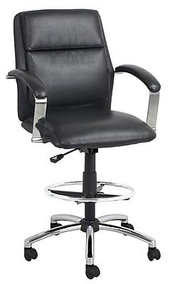 Global Office Furniture Bonded Leather Executive Stool Black (0055-1-MA)
