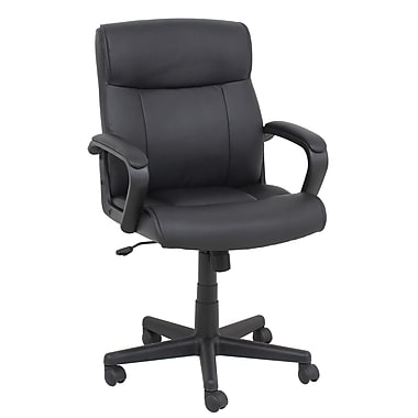 Barcalounger Office Furniture Polyurethane and PVC Manager Chair Black Embossed Arms (9275M-MA)