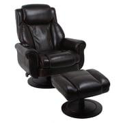 Global Office Furniture Bonded Leather Shiatsu Massage Recliner Brown (90023-MA)