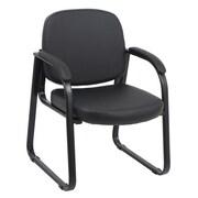 Global Office Furniture Polyurethene Guest Chair Black Metal Painted Frame (2824G-3-MA)