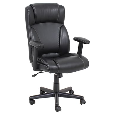 Barcalounger Office Furniture Polyurethane and PVC Manager Chair Polpropylene Arms Black (9099M-MA)